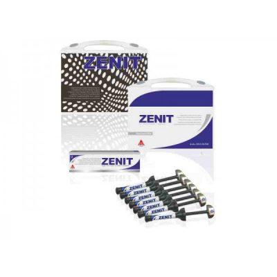 Kit 7 X 4 gr seringi de compozit -Nano Ceramic ZenitCombina rezistenta mecanica a compozitului hibrid cu estetica excelenta a compozitului microfill. Efectul camelon corespunde perfect cu culoarea dintelui. Este produs conform cerințelor DIN EN ISO 24049. Compozitul nano-ceramic este disponibil in seringi practice. Indicatii: - Restaurari ale cavitatilor de clasa I-V; - Reconstituirea dintilor dupa deteriorari in urma unor traumatisme; - Fatetari ale dintilor anteriori patati; - Corectii de forma si nuanta pentru imbunatatirea aspectului estetic; - Blocari fixari ale dintilor mobili; - Reparatii ale fatetelor; - Restaurari ale dintilor temporari; - Restaurarea bonturilor sub coroane incrustatii de tip Inlay din material compozit.