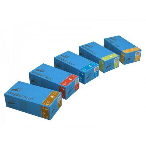 Manusi vinylex albastre 100 buc