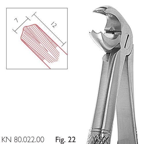 Cleste extractie molari inferiori 12/7 mm