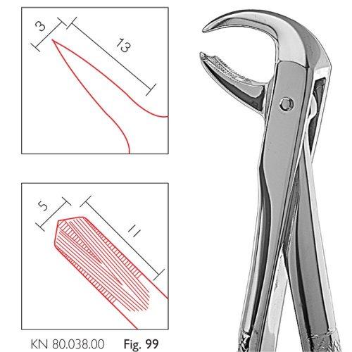 Cleste extractie molari inferiori, parte activa 13/3-11/5 mm