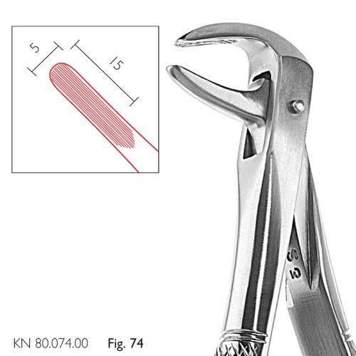 Cleste extractie inferiori parte activa 15/5 mm
